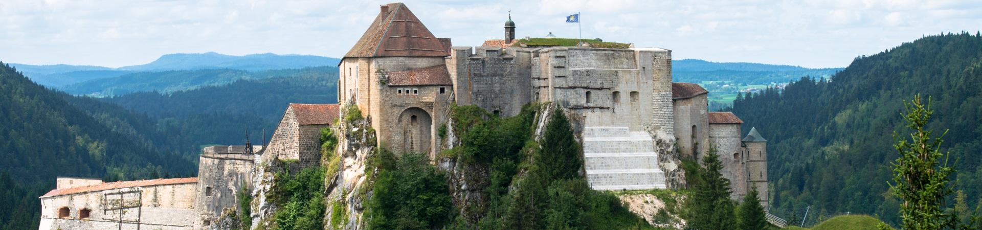 Photo Melodie Pardonnet, Juillet 2016,Vue depuis Fort Mallare, Vue depuis Larmont, Haut Doubs, Chateau de Joux
